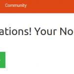 NodeBB Congratulations Message